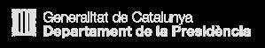 Logo Generalitat Departament Presidencia