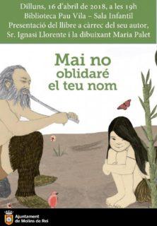 Presentació del llibre 'Mai no oblidaré el teu nom' @ Biblioteca Pau Vila | Molins de Rei, Barcelona | Catalunya | Espanya
