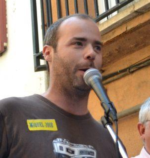 Miquel Monfort llegeix el pregó dels Miquels 2018 // DGM
