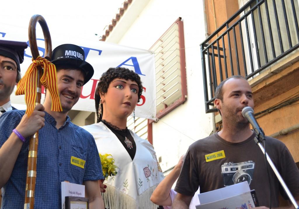 Miquel Sánchez agafa el relleu de Miquel Monfort // DGM