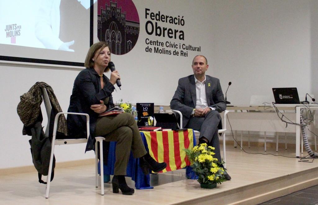 L'acte organitzat per Junts per Molins ha sigut presentat per l'alcaldable Ramon Sànchez // DGM