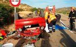 Estat en el que va quedar el cotxe // Diputación Provincial de Zaragoza
