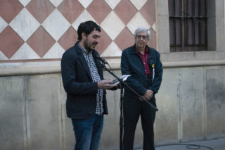 El director de Viu Molins de Rei, David Guerrero, va ser l'encarregat de presentar l'acte // Clàudia Ferràndiz