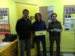 Jordi Beumala va ser l'encarregat de recollir el premi pel projecte Baketospel // Jordi Julià