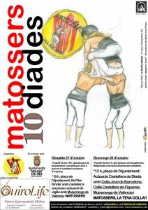 Els Matossers van editar tres cartells diferents per anunciar la Diada castellera // Matossers de Molins de Rei