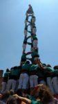 3 de 9 amb folre dels Castellers de Vilafranca, segon castell de 9 de Molins de Rei // Jordi Julià