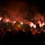 La plaça de la Vila va vibrar amb el foc i les espurnes dels diables // Elisenda Colell